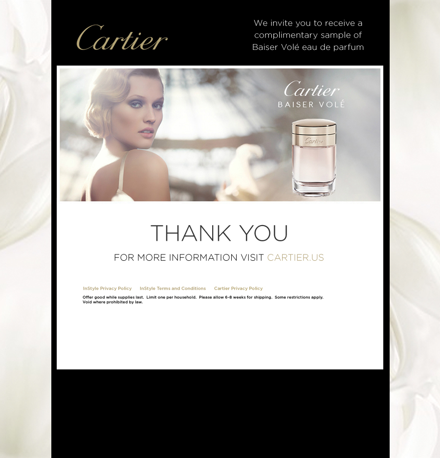 Cartier Baiser Vole fragrance sample